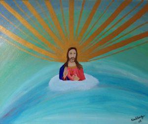 Schilderij 'Jezus' - Producten - Massage Cora in Giessenburg